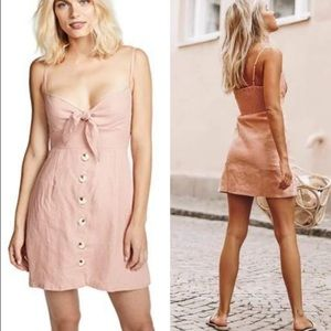 FAITHFULL THE BRAND M Rodeo Dress Pink mini